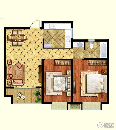 湖南农村80平方米房屋设计图带神位展示