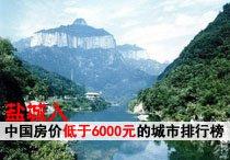 盐城入中国房价低于6000元的城市排行榜
