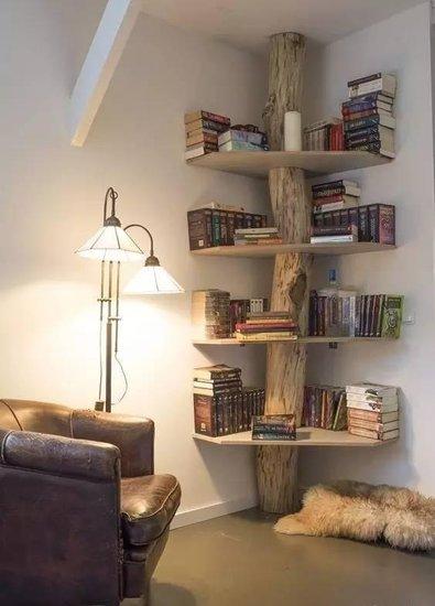 悬空书柜效果图