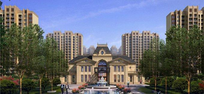 集高层,小高层,别墅,公寓,酒店,商业等多种业态于一体,总建筑面积约46