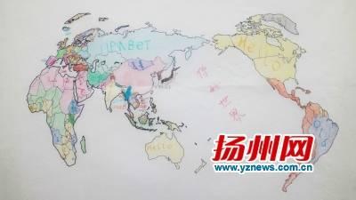 """""""你好世界""""手绘地图"""