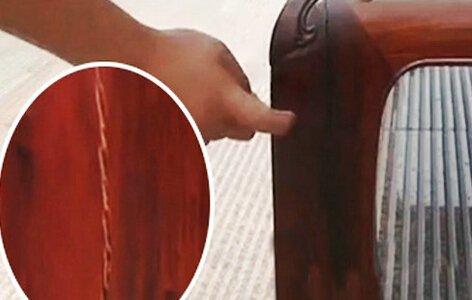 36万红木家具1个月就开裂 合格证居然是手写