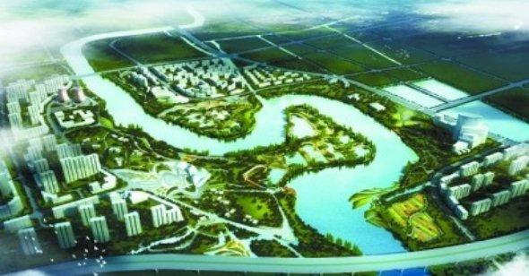 """为扬州市生态自然环境保持最完好的湖泊,平原类型湿地——""""七河八岛""""."""