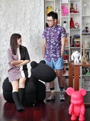 用纪念品装饰房子 台湾夫妻的50�O混搭家