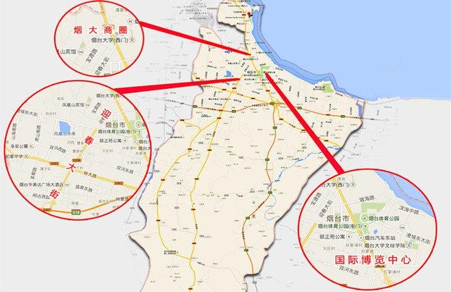 烟台东部城区商圈图解