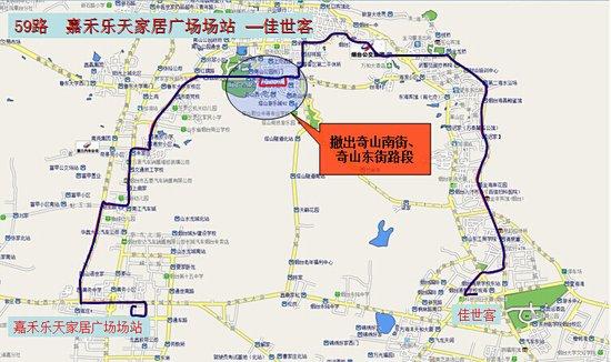公交 线路图 市区 曲线