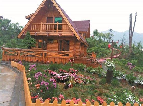 这些轻钢结构木式建筑,木结构建筑仿如童话世界,可是,它已经走进了
