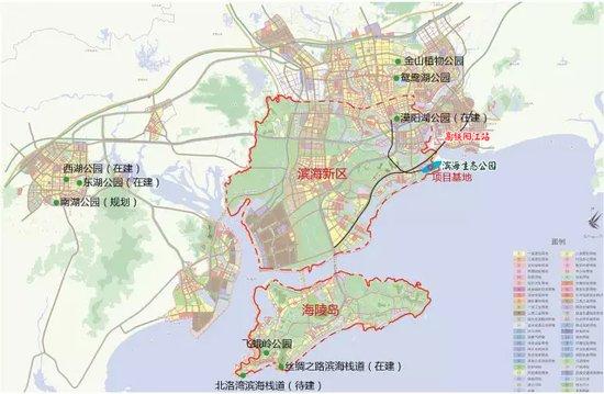 阳江滨海生态公园整体规划面积约12500亩