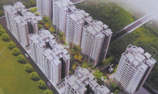 城中城豪庭目前主推建面90-140㎡洋房,均价为3200元/㎡