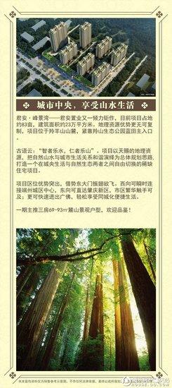 君安置业全新力作——君安·峰景湾