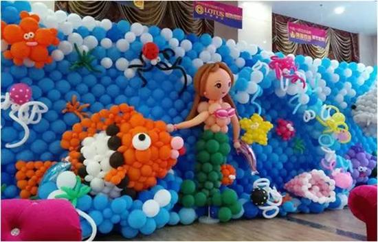 御景豪园海洋主题气球展,这里气球做成的,你从未见过的海洋世界动物的