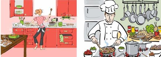 他和她都喜欢美食和做饭 他们的家一定要有个大厨房图片