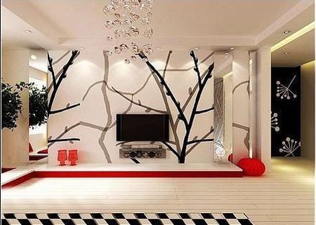 45款 简约时尚客厅电视背景墙装修设计(图)