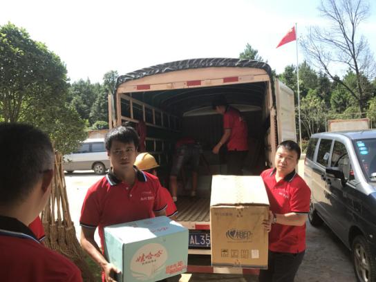 永州碧桂园组织志愿者队积极投入灾后救援工作中