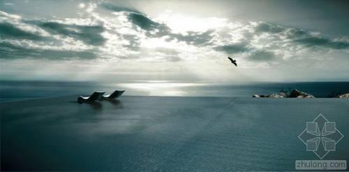 用一个屋顶无边水池 造出爱琴海上的