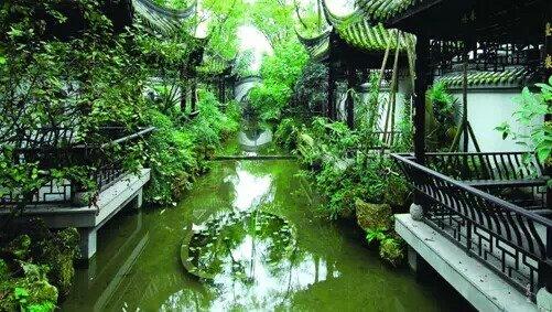 徽州庭院园林手绘