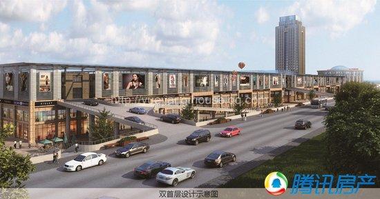 南翔万商(岳阳)国际商贸城双首层设计示意图