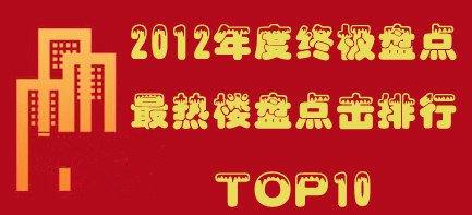 2012年度终极盘点 本地楼盘点击排行TOP10