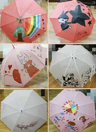 雨季也精彩 创意雨伞手绘周末来袭