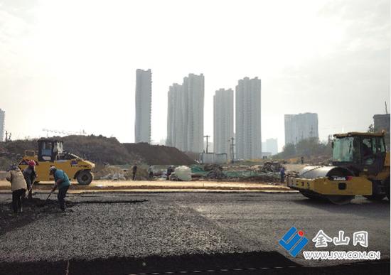 太古山路工程建设完成七成