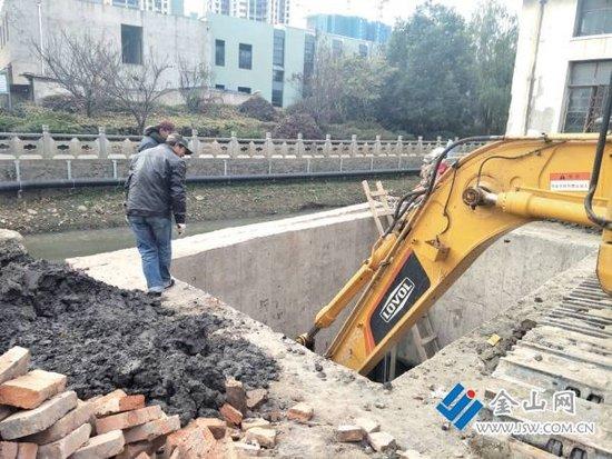 陆角桥改造排水工程启动