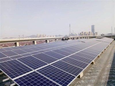 镇江建成全省首个公交场站光伏发电站