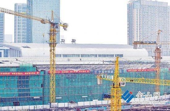 火车站北广场站房预计月底封顶