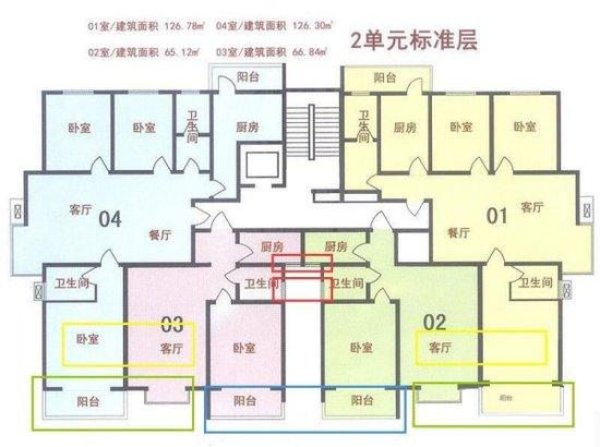 高层三房平面图