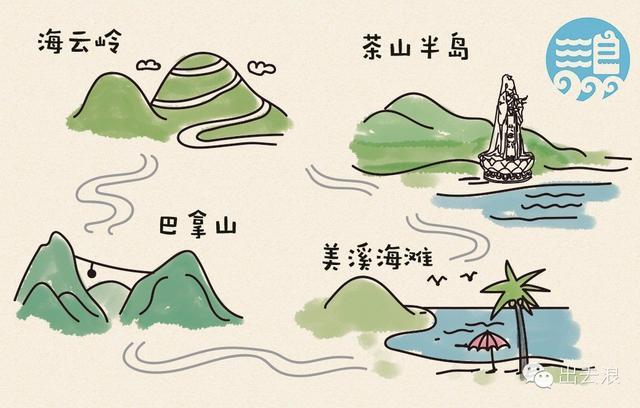 小浪手绘|岘港旅行地图