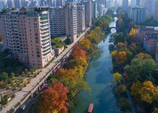 杭州东河两岸景如画