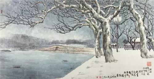 画西湖十景;一个