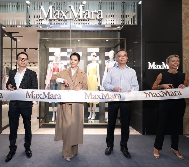 刘涛干练助阵Max Mara杭州大厦精品店开幕活动