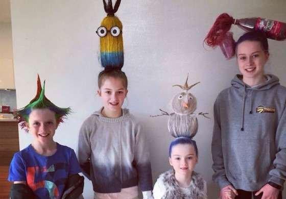 他们把创意玩到了小朋友的头发上