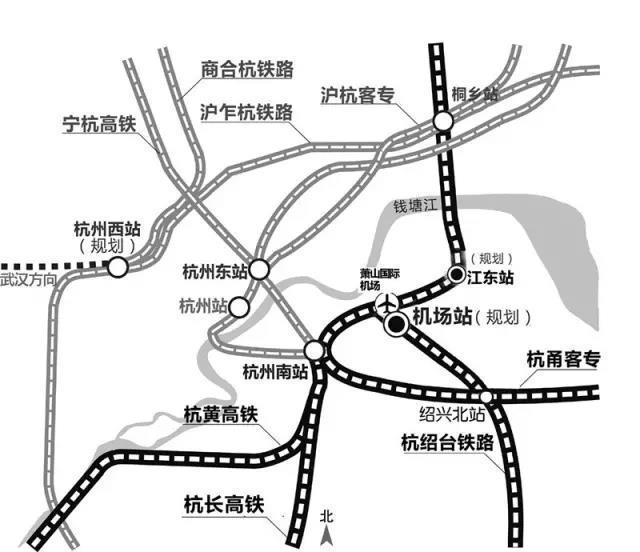 杭州轨道快线将串联杭州西站、东站和萧山机场