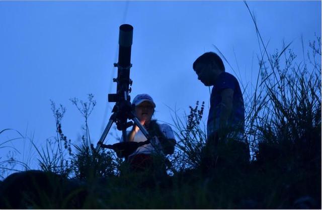 百名天文爱好者汇聚金华武义 观测流星雨
