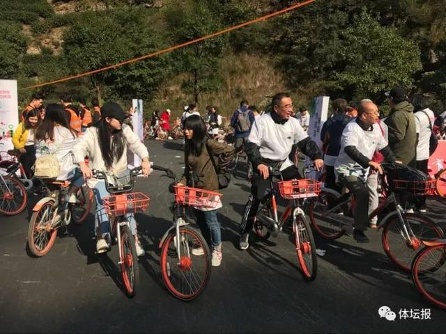 骑行品茗两不误 茶山脚下共享单车盛宴