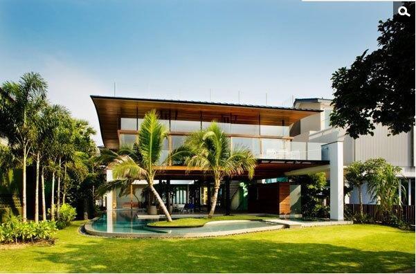 超现代热带海滨住宅