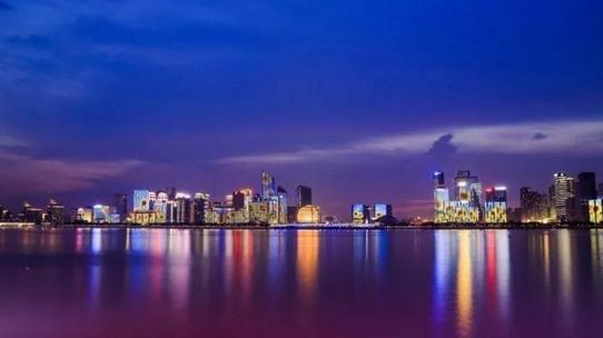 钱塘江两岸滨江区段,上城区段灯光秀