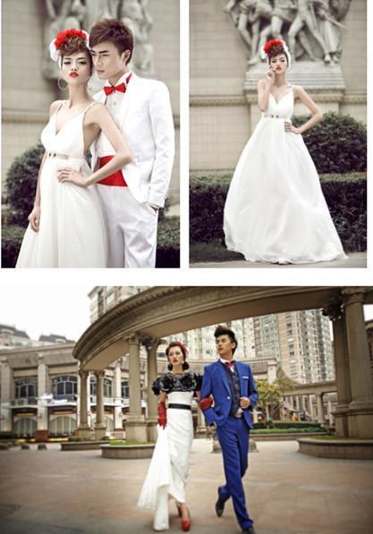 虽然不能出国拍婚纱照,欧洲城的欧式风格也一定能给你的结婚照不一样图片