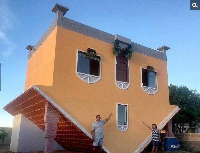设计师建造现实版颠倒房屋