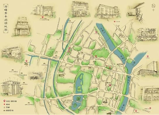 宁波发放手绘读书地图 不少书店咖啡馆可免费拿