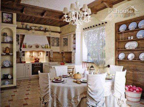 艺术品瓷器    设计重点:精致的壁橱和装饰摆放    编辑点评:厨房餐厅