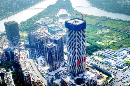 193.5米!金华市区第一高楼雏形显现