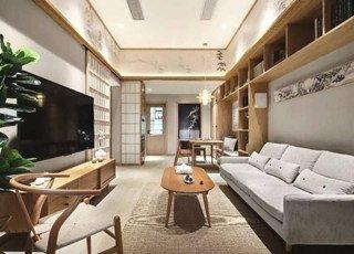 105㎡的现代日式阳台茶室很好看