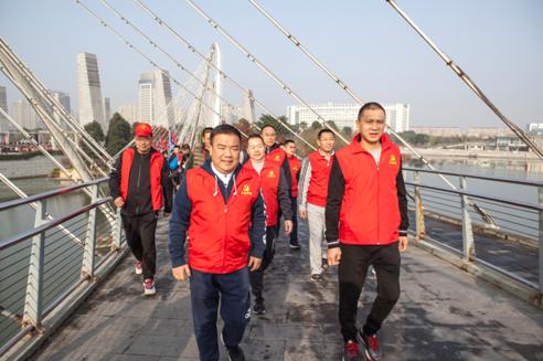 温州苍南:千人表演千人骑行庆平水公园开园