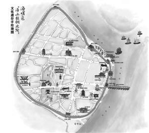 """宁波首幅""""海丝遗产""""手绘地图出炉 标识20多处遗迹"""