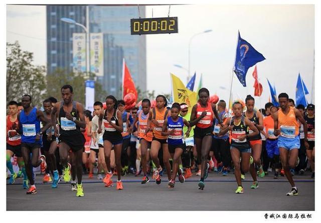 游戏天堂快乐奔跑 2017曹娥江国际马拉松热力开跑