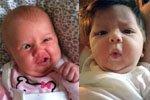 宝宝拉粑粑时的表情