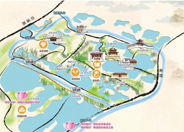西湖三十景手绘地图