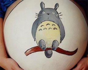 """""""在孕妇肚腩上画画""""很疯狂"""